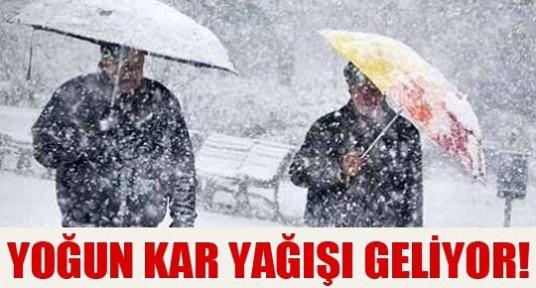 Dikkat ! Yoğun kar yağışı geliyor