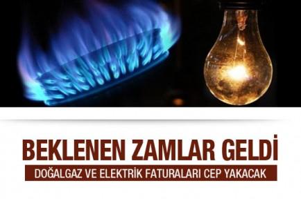Doğal Gaz Ve Elektriğe Zam