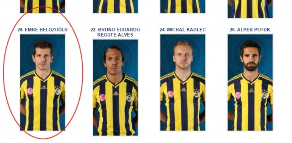 Fenerbahçe'nin internet sitesinde 'Emre' sürprizi