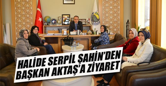 Halide Serpil Şahin'den Başkan Aktaş'a Ziyaret