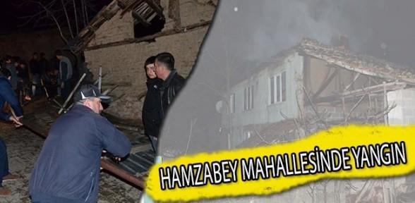 Hamzabey Mahallesinde Yangın