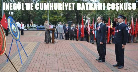 İnegöl'de 29 Ekim Cumhuriyet Bayramı Coşkusu