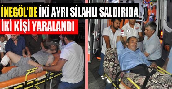 İnegölde İki Ayrı Silahlı Saldırıda İki Kişi Yaralandı