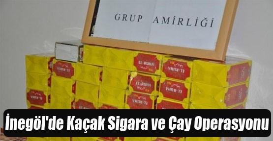 İnegöl'de Kaçak Sigara ve Çay Operasyonu