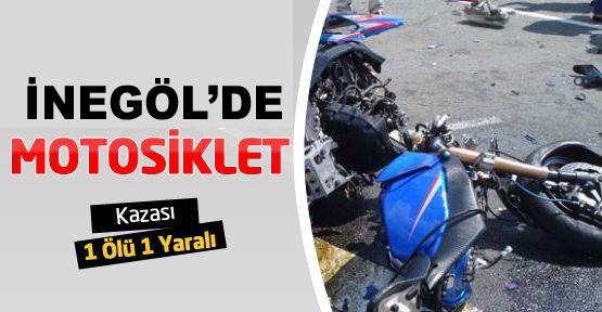 İnegöl'de motosiklet kazası!