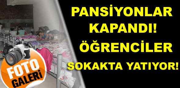 İnegöl'de Pansiyonlar Kapandı Öğrenciler Sokakta kaldı!