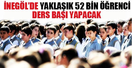 İnegöl'de  Yaklaşık 52 Bin Öğrenci Ders Başı Yapacak!