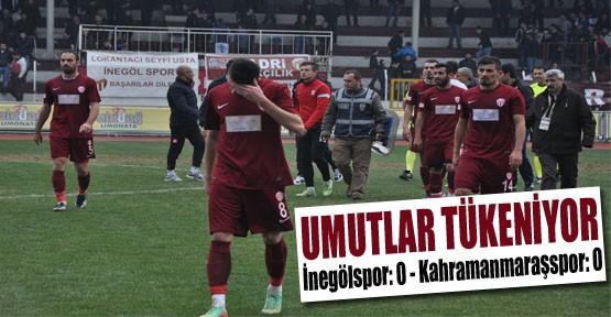 İnegölspor: 0 - Kahramanmaraşspor: 0