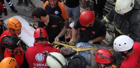 İnşaatta beton faciası: 2 yaralı