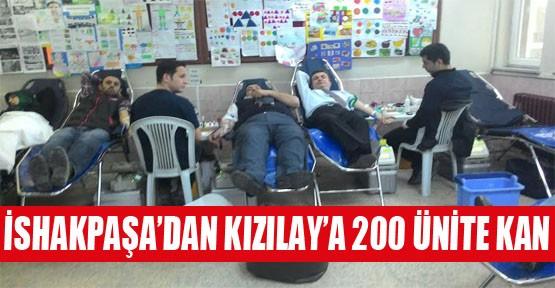 İshakpaşa'dan Kızılay'a 200 Ünite Kan