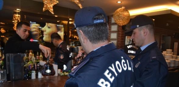 İstanbul'da Alkollü Mekanlara Yılbaşı Denetimi