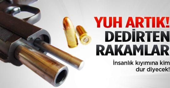 Kahreden rakam: Her yıl 4 bin kişi silahla ölüyor