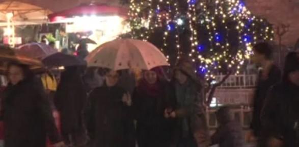 Kar Yağışı Taksim'de De Etkili Oldu