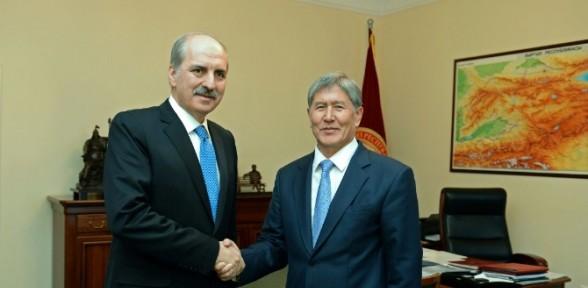 Kırgız Cumhurbaşkanıyla Görüştü