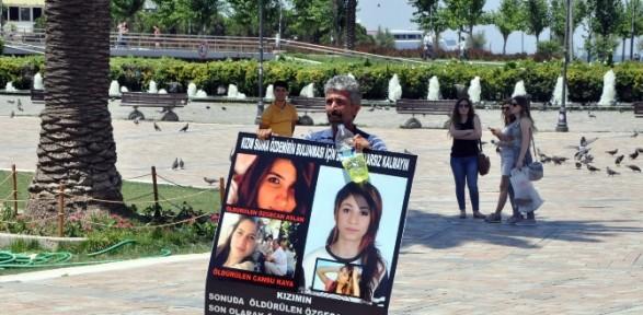 Kızı kaybolan baba kendini yakmaya çalıştı
