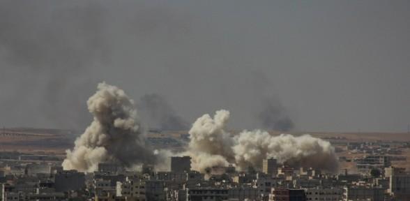 Kobani'de büyük patlama