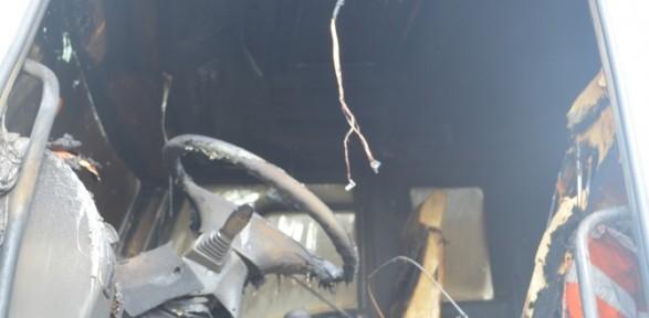 Mhp'li Başkanın Kamyonu Yakıldı