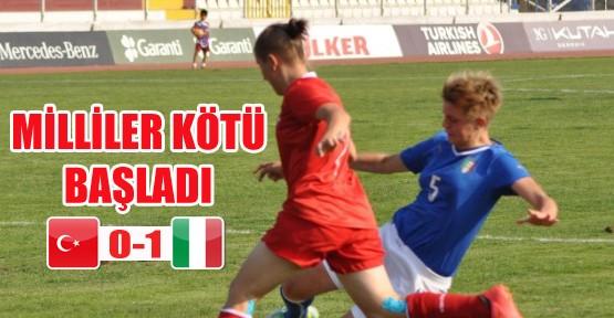 İtalya'ya 1-0 yenilen Türkiye, turnuvaya kötü başladı