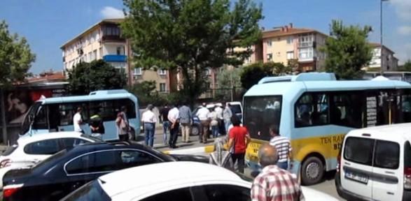 Minibüsçüler polise saldırdı !