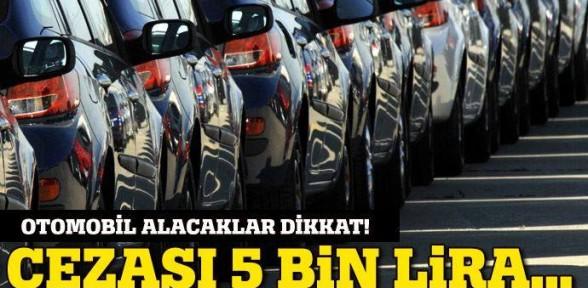 Otomobilde KM düşürene 5 Bin TL Ceza!