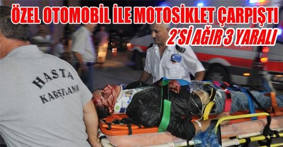 Özel Otomobil İle Motosiklet Çarpişti: 2'si Ağır 3 Yaralı