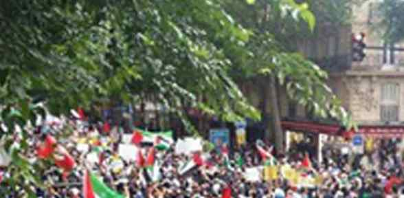 Paris'te ''filistin'e Destek'' Gösterisine Müdahale