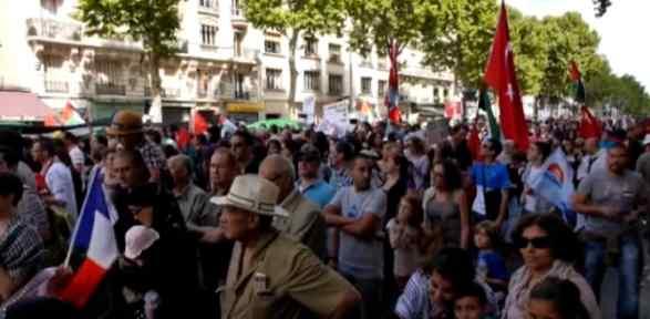Paris'te Vicdan Gazze Için Sokaktaydı