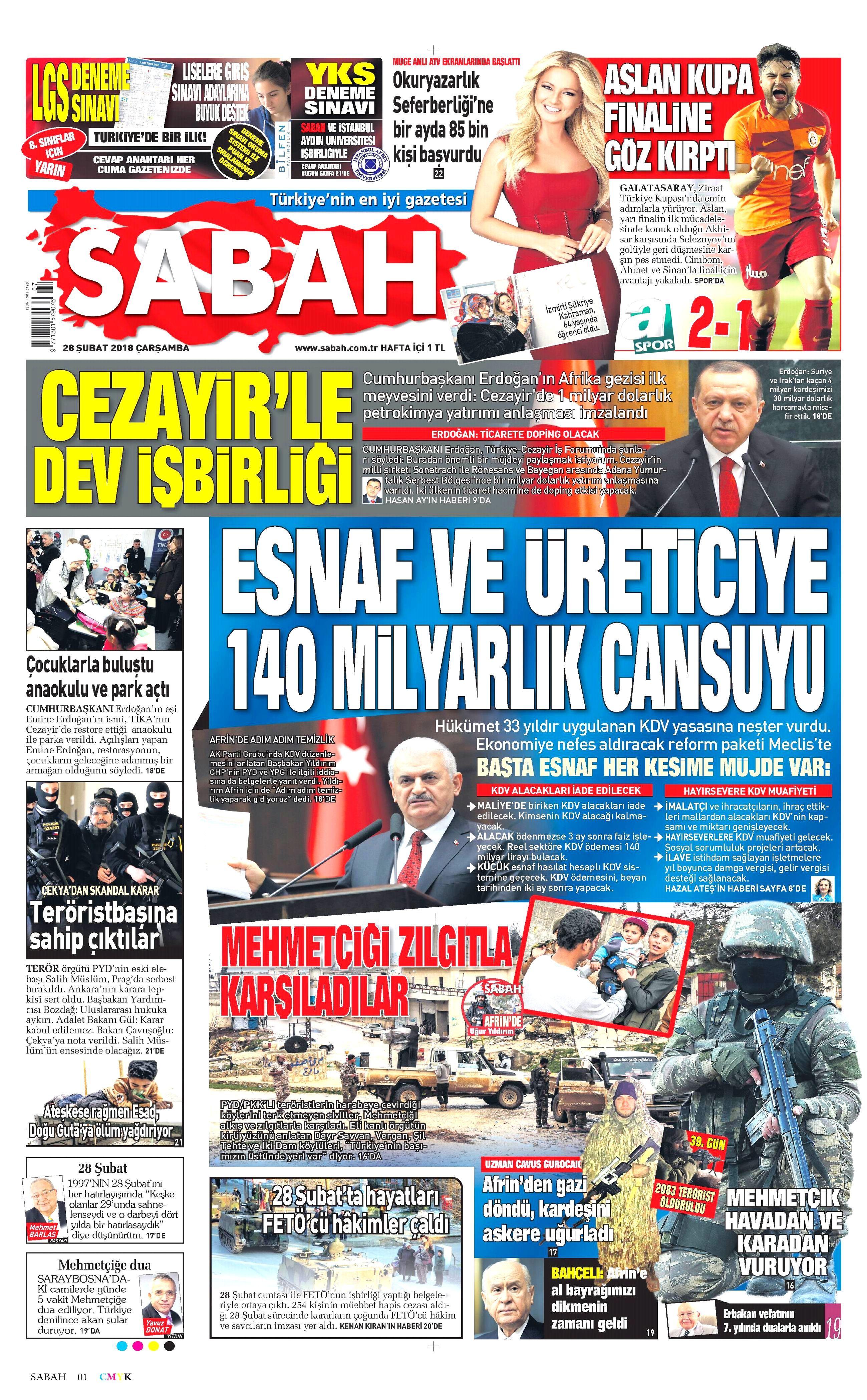 Sabah Gazetesi - Sabah Manşet Oku - Haberler
