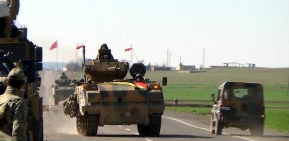 Şah Fırat operasyonuna katılan tanklar tabur komutanlığında