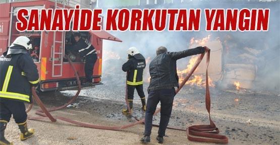 Sanayide Korkutan Yangın