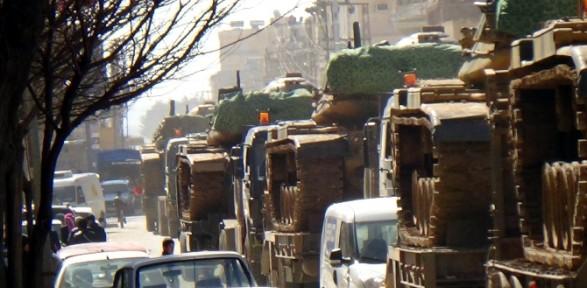 Tank ve zırhlı araçlar bölgeden ayrıldı
