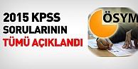 2015 KPSS soru ve cevapları açıklandı