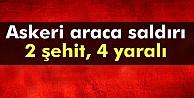 Diyarbakır#039;da askeri araca saldırı: 1 şehit, 5 yaralı