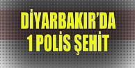 Diyarbakırdan acı haber: 1 polis şehit, 1 yaralı