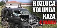 Kozluca Yolunda Kaza 4 Yaralı