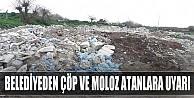 Belediyeden çöp ve moloz atanlara uyarı