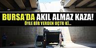 Bursada Kamyonet Köprüden Uçtu: 1 Yaralı