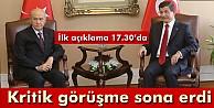 Davutoğlu ve Bahçeli#039;nin görüşmesi sona erdi