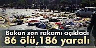 Bakanlar açıklama yaptı: 86 ölü