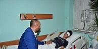 Yaralanan Eskişehirspor Taraftarına Bursasporlu Yöneticiden Ziyaret