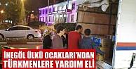 İnegöl Ülkü Ocakları#039;ndan Türkmenlere yardım eli