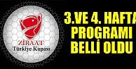 Gruplarda 3. ve 4. hafta maçlarının programı açıklandı