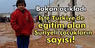 İşte Türkiye#039;de eğitim alan Suriyeli çocukların sayısı