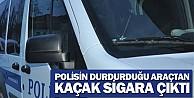İnegöl#039;de polisin durdurduğu araçtan kaçak sigara çıktı