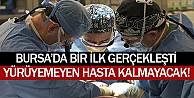 Bursa#039;da 4 yıldır yatağa bağlı hasta ayağa kalktı