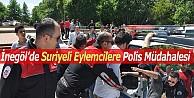 Suriyeli Eylemcilere Polis Müdahalesi