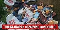 FETÖcü öğretmen baskından önce yüzlerce kitabı çöpe attı