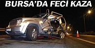 Bursada otoyolda feci kaza, 2 yaralı