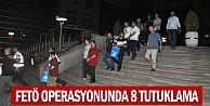 İnegöl#039;de  FETÖ operasyonu: 8 kişi tutuklandı