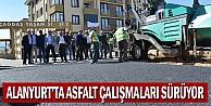 Alanyurt#039;ta asfalt çalışmaları sürüyor